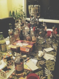 New Years with the remnants of pictonary broken telephone. Friends <3